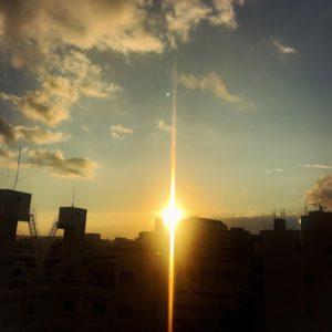 沖縄の朝日