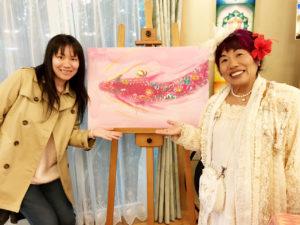 越智啓子先生と龍の絵